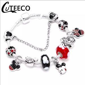 Jewelry - 18cm New Mickey and Minnie Mouse Charm Bracelet
